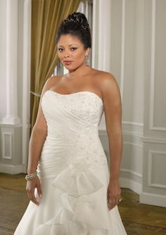dressahead.com SUPPLIES New Style Perfect A-Line  Strapless Sleeveless Plus Size Wedding Dress Plus Size Wedding Dresses (2)