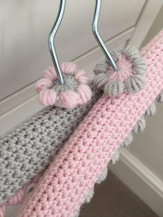 crochet hangers: Kate Eastwood's Pretty Crochet Hanger Covers on the LoveCrochet blog