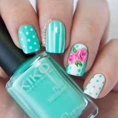 Kiko #389, #506 ; China Glaze Bottoms Up ; Gina Tricot Beauty Raspberry ; Essie Blanc ; 7/31/14 --- I Pinned this mainly because of my love of Kiko 389 <3