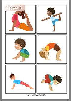 Yoga For Preschool Age - Helpful Techniques For workbenches - Poses Yoga Enfants, Kids Yoga Poses, Yoga For Kids, Exercise For Kids, Preschool Gymnastics, Preschool Age, Gross Motor Activities, Toddler Activities, Yoga Games