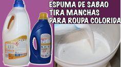 ESPUMA DE SABAO TIRA MANCHAS PARA ROUPAS COLORIDAS RECEITA INEDITA