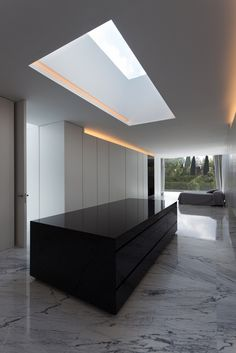 Aluminum House by Fran Silvestre Arquitectos in Madrid, Spain - a modern home that contrasts and blends with its environment simultaneously. Decorating Small Spaces, Interior Decorating, Interior Design, Contemporary Architecture, Interior Architecture, Spanish House, Big Houses, Minimalist Home, Cheap Home Decor