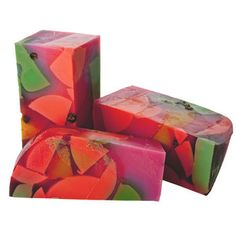 "LUSH ""Mr. Punch"" Boozy, fruity, gin, juniper and blackcurrant soap. $6.95"