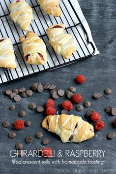 Chocolate and Raspberry Filled Crescent Rolls