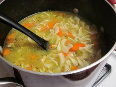 Homemade chicken soup #recipe