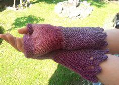 Elegant fingerless mitts by Stefily on Etsy