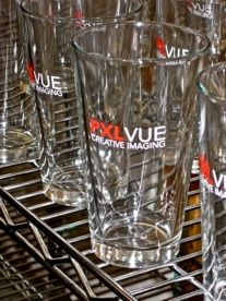 Nice use of color and space on the 16oz pint. PXLVUE Pint Glass, Beer, Mugs, Space, Tableware, Color, Root Beer, Floor Space, Ale