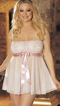Sexy plus size wedding lingerie