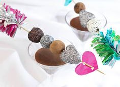 """Make Cupid's Truffle Skewers on Etsy ~ Chocolate truffles recipe and """"Cupid's Arrow"""" skewers how-to"""