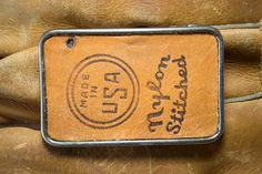 Leather Belt Buckle  Made in USA Nylon Stitched by SoftSparkArt