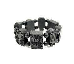 GoodWoodNYC - Sounds Wood Bracelet Black, $38.00 #woodenbracelet #woodbracelet #goodwoodnyc #Woodjewelry #beadedbracelet