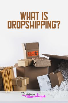 If you're thinking about opening an online store you might want to familiarize yourself with dropshipping and how it works. Starting An Online Boutique, Selling Online, Home Based Business, Online Business, Business Ideas, Victoria Secret Swimwear, Create Online Store, Handbags Online Shopping, Ecommerce Website Design