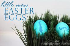 little man Easter eggs