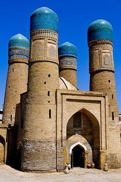 Quattro Minareti - Bukhara (Bujará) (Uzbekistan). Su centro histórico fue declarado Patrimonio de la Humanidad por la Unesco en el año 1993