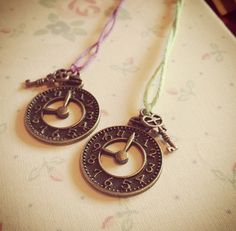 Clock and Key Wish String via WishStrings. Click on the image to see more!
