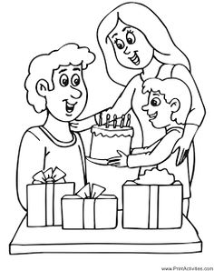 kids coloring pages, birthday coloring pages