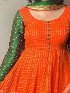 Kurti neck designs - Simple yet stylish neck designs for kurtis ArtsyCraftsyDad Salwar Neck Designs, Kurta Neck Design, Dress Neck Designs, Kurta Designs Women, Designs For Dresses, Saree Blouse Designs, Chudithar Neck Designs, Simple Kurti Designs, Chudidhar Designs