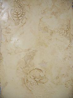 Glazed Venetian Plaster with embedded Stencil