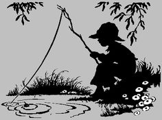 Unit ideas for Tom Sawyer - do illustration, vocabulary words, background of Mark Twain Wood Burning Patterns, Wood Burning Art, Drawing Projects, Art Projects, Adventures Of Tom Sawyer, Boy Fishing, Scroll Saw Patterns, Silhouette Art, Fish Art