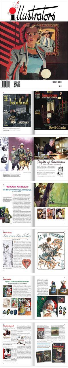 illustrators magazine: Denis McLoughlin, Ian Kennedy, Angel Badia Camps, Cheri Herouard, Mick Brownfield