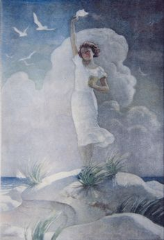 "N. C. Wyeth (1882-1945) ""(young woman on a sand dune)"""