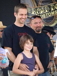 Paul Walker with his daughter, Meadow and his dad.