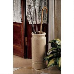 Authentic 44-lb. Solid Ivory Marble Cane and Umbrella Vessel $159.00