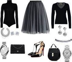 tulle/ tutu by angelflames on Polyvore featuring FTC, Boutique de la Femme, Chicwish, Christian Louboutin, Chanel, MARC BY MARC JACOBS, Michael Kors, BaubleBar, Roberto Coin and Tiffany & Co.