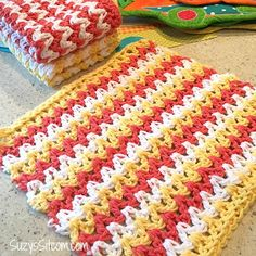Check out these free crochet patterns for wash cloths.