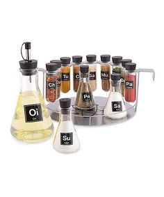 Loving this Periodic Table Spice Rack Set on #zulily! #zulilyfinds