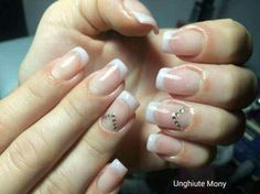 Mild french manicure
