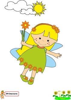 Re Ludos e la fata Primavera Lisa Simpson, Applique, Clip Art, Kids, Character, Spring, Confirmation, Ideas, Mariage