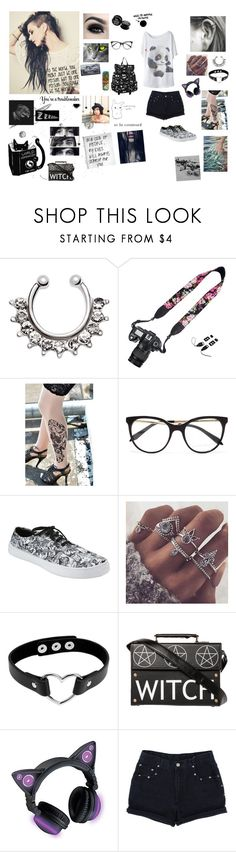 """Dreaming and don't wanna wake up"" by xxxbandobsessedfanxxx ❤ liked on Polyvore featuring WithChic, Victoria Beckham, Hot Topic and Too Faced Cosmetics"