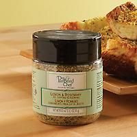 #9755 Lemon & Rosemary Oil Dipping Seasoning — $7.25   Zesty lemon, combined with the taste and aroma of rosemary, makes a vibrant oil seasoning for dipping fresh bread or salad dressing. 3.3 oz. Contains: soy.