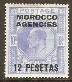 Morocco Agencies 1907 12p on 10s Ultramarine. SG123.