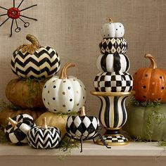 Dotty Pumpkin - Ivory: So much fun to display on an entry console or autumn tabletop! The delicate gold spots on the Ivory Dotty Pumpkin take your fall decor beyond the basic black-and-orange color scheme.