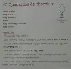 Quadrados de chocolate