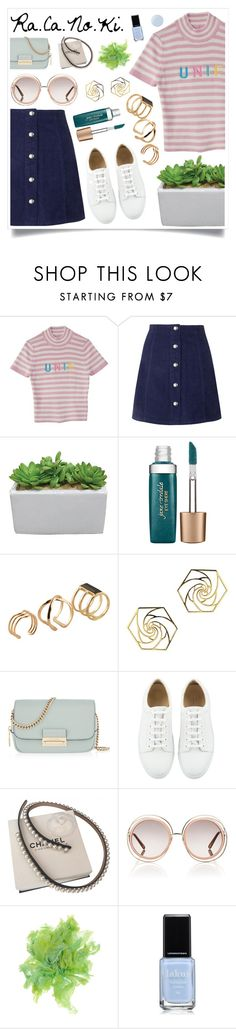 """We Can Dance Now"" by racanoki ❤ liked on Polyvore featuring Lenny, Topshop, Jane Iredale, ALDO, Henri Bendel, Chanel, Chloé, Malababa, Essie and RaCaNoKi"