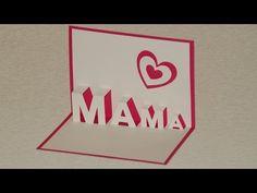 ▶ Muttertagsgeschenke basteln: Pop Up Cards zum Muttertag selber basteln - YouTube