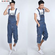 42.49$  Watch here - http://alipk8.worldwells.pw/go.php?t=32699173513 - Plus Size S-5XL Denim Overalls for Men Summer Mens Bib Coveralls with Suspenders Casual Jeans Jumpsuit Pockets