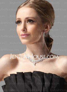 Jewelry - $14.99 - Gorgeous Alloy With Rhinestones Wedding Bridal Jewelry Set(011004472) http://jenjenhouse.com/Gorgeous-Alloy-With-Rhinestones-Wedding-Bridal-Jewelry-Set-011004472-g4472