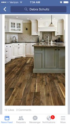 House Remodeling, Kitchen Remodelling, Kitchens, Wood, Cabinet Colors,  Kitchen Floors, Color Combinations, Kitchen Ideas, Floors Kitchen