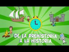 """""""De la Prehistoria a la Historia, las edades del hombre"""" (Vídeo de Historia de Primaria)"""