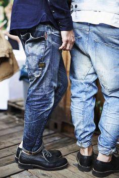 My style, my jeans Raw Denim, Denim Look, Moda Fashion, Denim Fashion, Drop Crotch Jeans, Der Gentleman, Estilo Denim, Mode Jeans, Mein Style