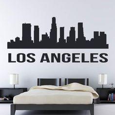 City Wall Stickers, Baby Room Wall Decals, Los Angeles Usa, White Vinyl, Interior Walls, Vinyl Art, Wall Art, Link, Garden