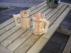 Make a wooden beer mug by hand and give to the members of our special club that reach a specific amount of different types of beers as a reward.