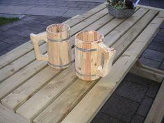 estilo da caneca de cerveja de madeira