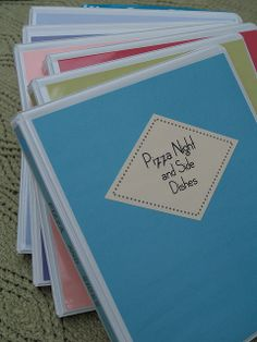 Meal Planning - Each night of the week is a different food type. Each food type has a binder.