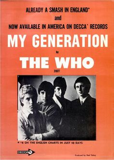 A great collection of Vintage British Invasion Print Ads from the USA when The Beatles, The Rolling Stones, The Who and The Kinks were all brand new. Rock And Roll History, John Entwistle, Billboard Magazine, The Kinks, 60s Music, Poster Ads, British Invasion, Concert Posters, Music Posters