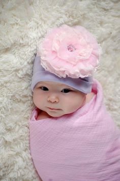 d0f11121c25 Buy Jamie Rae flower hats for baby girls at SugarBabies Boutique! We offer  many lovely styles including a Lavender Hat with Pale Pink Lace Rose!